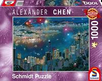 schmidt Vuurwerk boven Hong Kong 1000 stukjes - Puzzel