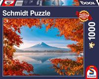 schmidt Herfst bij Mount Fuji 1000 stukjes - Puzzel