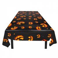 Boland tafelkleed Creepy Pumpkin 120 x 180 cm polyetheen zwart/oranje