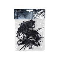 Boland griezelige beesten PVC zwart 6 stuks