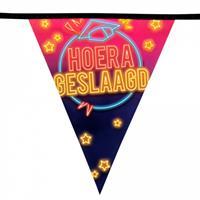 Boland vlaggenlijn Hoera Geslaagd 6 meter polyetheen