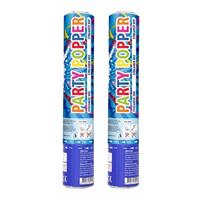 Set van 2x stuks confetti party shooters kanonnen gekleurd 26 cm - Confetti
