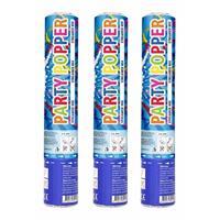 Set van 3x stuks confetti party shooters kanonnen gekleurd 26 cm - Confetti