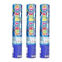 Set van 6x stuks confetti party shooters kanonnen gekleurd 26 cm - Confetti