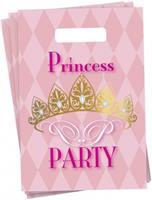Haza Original feestzakjes Princess Party 25 cm 6 stuks roze