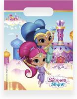 Nickelodeon uitdeelzakjes Shimmer en Shine 23 cm 6 stuks roze