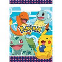 Amscan uitdeelzakjes Pokémon 16 x 23 cm junior 8 stuks
