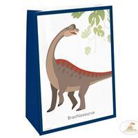 Amscan uitdeelzakjes Happy Dinosaurs 14,7 x 21 cm 4 stuks