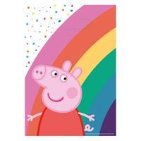 Amscan uitdeelzakjes Peppa Pig 8 stuks