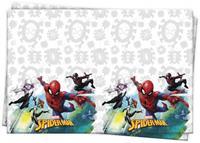 Marvel tafelkleed Spider man junior 120 x 180 cm wit/grijs