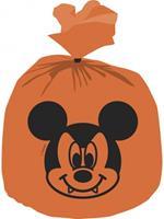 Procos uitdeelzakjes Mickey Halloween oranje 30 x 25 cm 6 stuks