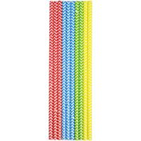 30x Papieren rietjes in verschillende kleuren 20 cm kinderfeest rietjes - Drinkrietjes