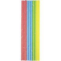 40x Papieren rietjes in verschillende kleuren 20 cm kinderfeest rietjes - Drinkrietjes