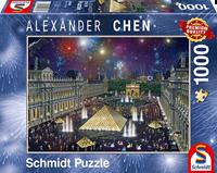 schmidt Vuurwerk bij het Louvre  1000 stukjes - Puzzel