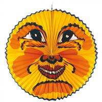 Amscan lampion maan 60 cm papier geel/oranje