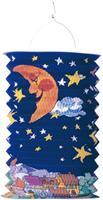 Amscan lampion zon & maan 28 cm papier/staal blauw