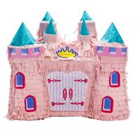 Party Stars piñata kasteel roze 42 x 42 x 15 cm