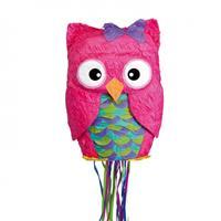 Amscan piñata uil roze 34x49x16 cm