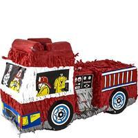 Amscan piñata brandweerauto rood 28x48 cm