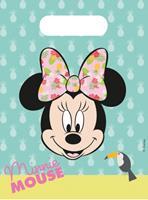 uitdeelzakjes Minnie Mouse junior 28,5 cm groen 6 stuks
