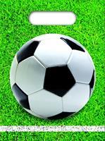 Procos uitdeelzakjes voetbal 23 x 16 cm groen