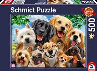 schmidt Honden Selfie  500 stukjes - Puzzel