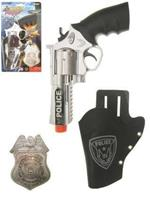 Coppens Pistool met holster & police badge