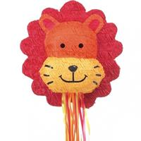 Amscan piñata leeuw rood/oranje 38x43 cm