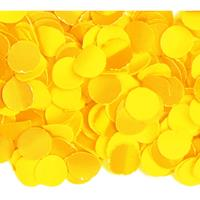 3x zakjes van 100 gram party confetti kleur geel - Confetti