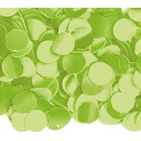 3x zakjes van 100 gram party confetti kleur lime - Confetti