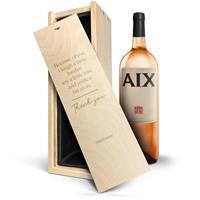 YourSurprise Wijn in gegraveerde kist - AIX rosé (Magnum)