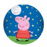 Tib lampion Peppa Pig 25 cm papier blauw