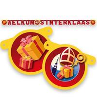 Witbaard wenslijn 'Welkom Sinterklaas' 210 cm rood/geel
