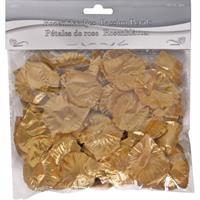 Folat luxe rozenblaadjes 5 cm polyester goud 144 stuks