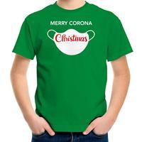 Bellatio Decorations Merry corona Christmas fout Kerstshirt / outfit groen voor kinderen
