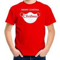 Bellatio Decorations Merry corona Christmas fout Kerstshirt / outfit rood voor kinderen