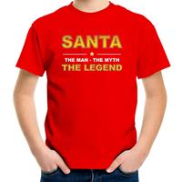 Bellatio Decorations Santa t-shirt / the man / the myth / the legend rood voor kinderen