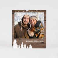 tadaaz Polaroid foto kerstkaart in houtlook