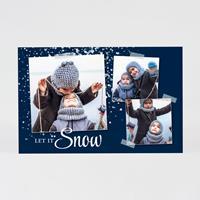tadaaz Kerstkaart met foto's en sneeuwvlokken