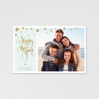 tadaaz Trendy nieuwjaarskaart met foto en sterretjes