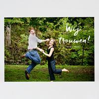 tadaaz Leuke romantische foto trouwkaart