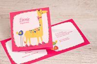 tadaaz Vrolijke geboortekaart met giraf | Buromac 589095