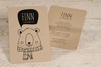 tadaaz Kraft kaart met vriendelijke beer
