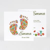 tadaaz Lief geboortekaartje 3-luikje met vrolijke voetjes | Buromac 584102