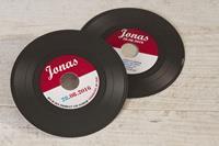 tadaaz Muzikaal vinylplaat kaartje