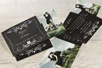 Krijtbord huwelijkskaartje met foto