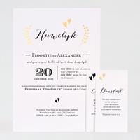 Sierlijke trouwkaart met gouden details | Buromac 108021