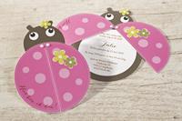 tadaaz Geboortekaart lieveheersbeestje roze