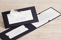 tadaaz Koninklijk blauwe kaart met witte inleg en echte veer! | Buromac 106007