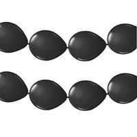 Merkloos 2x stuks ballonnen knoop slinger zwart 3 meter -